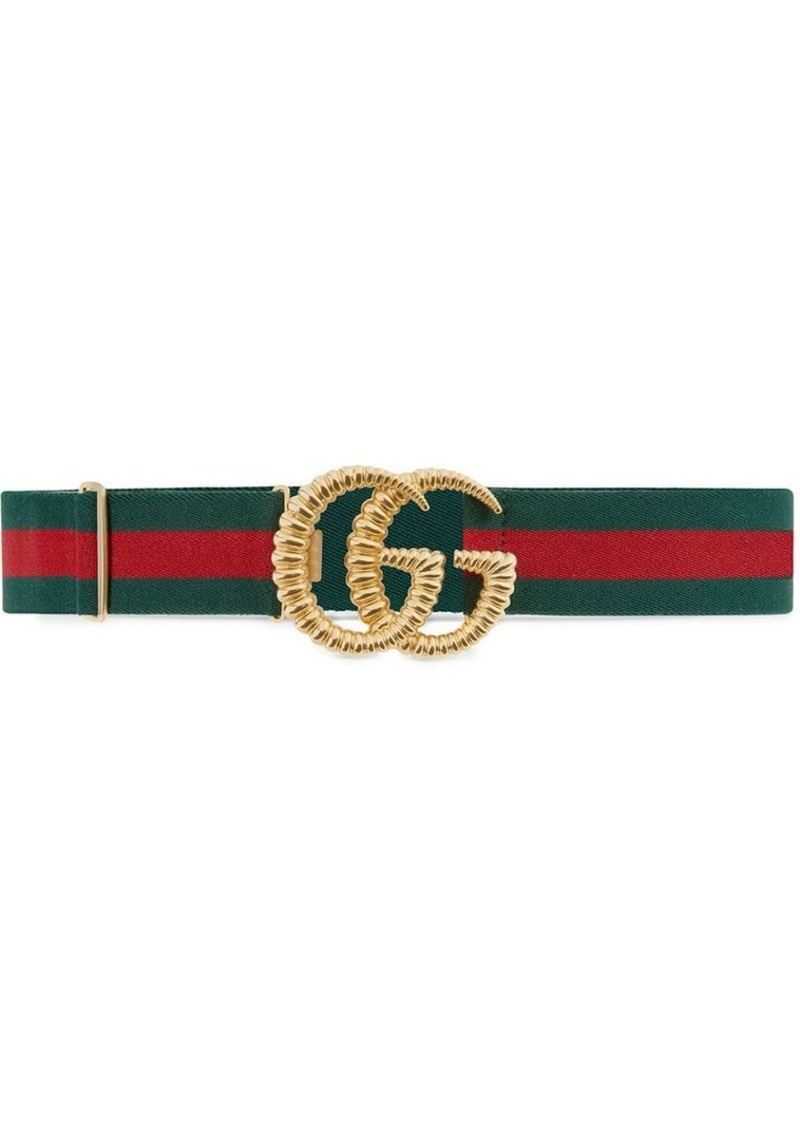 0d96f134b Gucci Web elastic belt with torchon Double G buckle | Belts