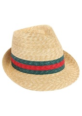 Gucci Web Raffia Bucket Hat