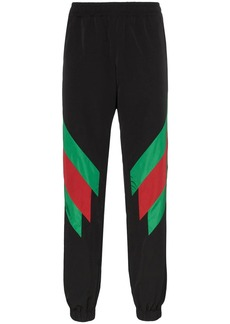 Gucci web stripe sweat pants