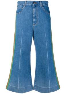 Gucci Web trim cropped jeans