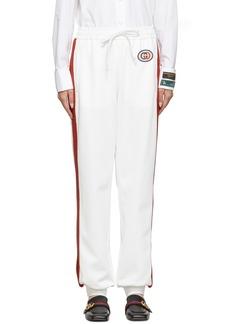 Gucci White GG Patch Lounge Pants