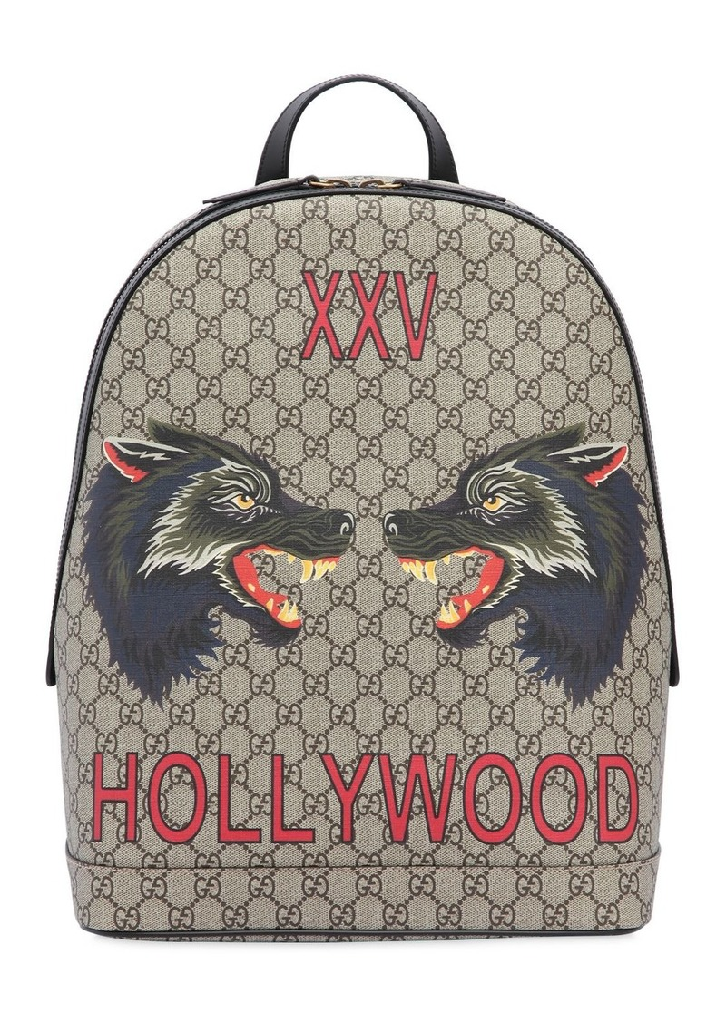 457076c7c2c9f4 Gucci Wolves Printed Gg Supreme Backpack | Bags