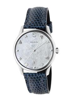 Gucci Women's G-Timeless Lizard Skin Strap Watch, 36mm