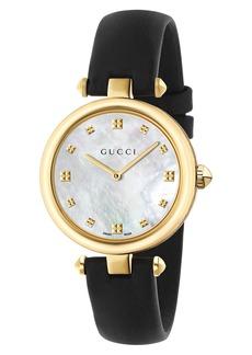 Women's Gucci Diamantissima Leather Strap Watch