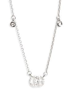 Women's Gucci Double-G Diamond Pendant Necklace
