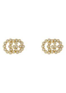Women's Gucci Double-G Diamond Stud Earrings