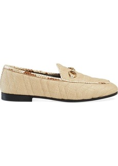 Women's Gucci Jordaan chevron raffia loafer