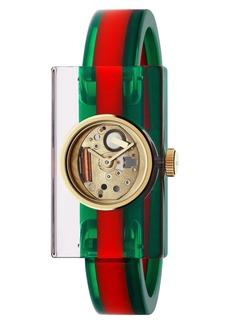 Women's Gucci Plexiglas Bracelet Watch