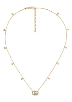 Women's Gucci Running-G Diamond Pendant Necklace