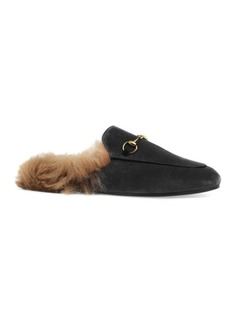 Gucci Women's Princetown Fur-Lined Velvet Mules