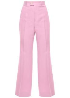 Gucci Wool & Silk Cady Crepe Flared Crop Pants