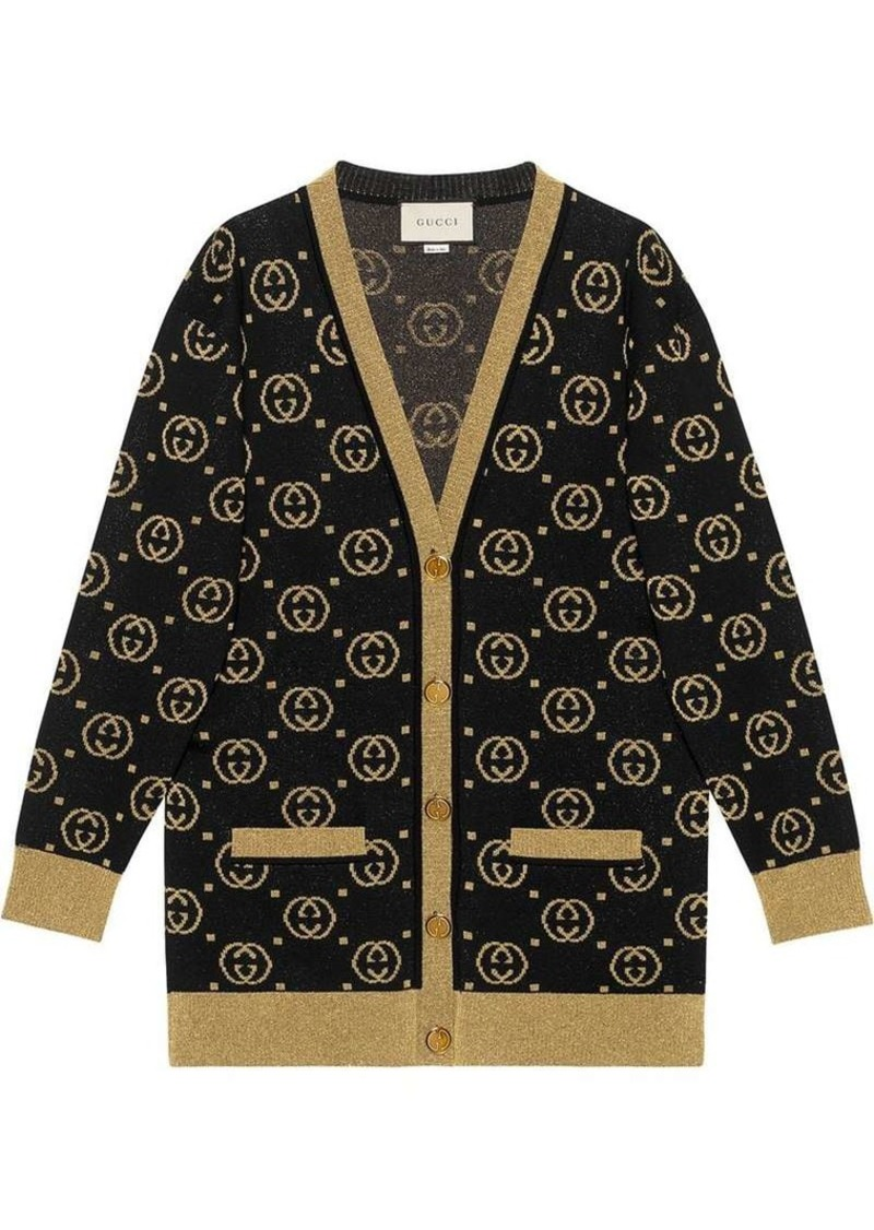 60a4ec41 Wool cardigan with GG motif