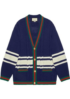 Gucci Wool cardigan with patches