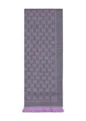 Gucci Wool GG jacquard scarf