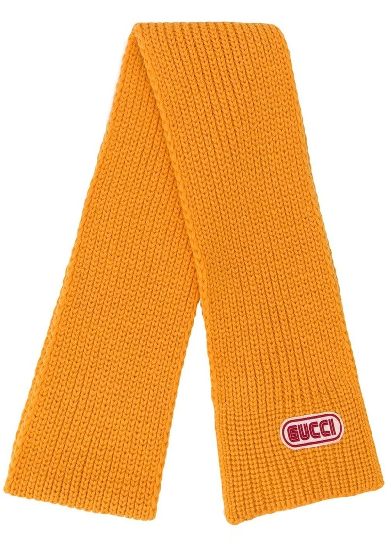 wool scarf with Gucci patch
