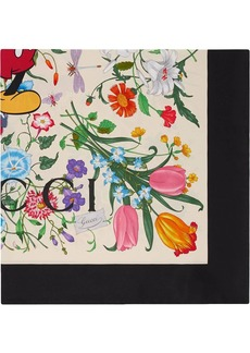 Gucci x Disney floral print bandana scarf