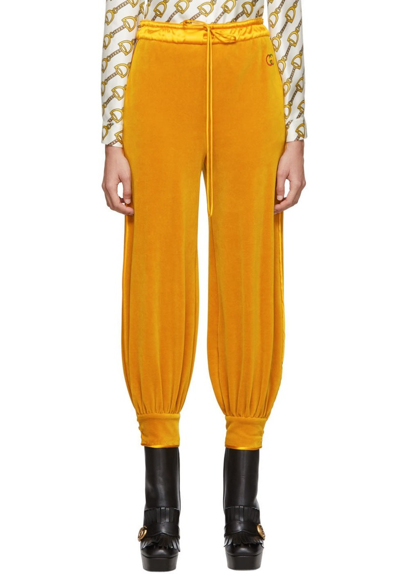 Gucci Yellow Chenille Jogging Lounge Pants