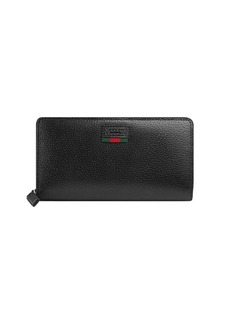 Gucci zip around wallet with Web