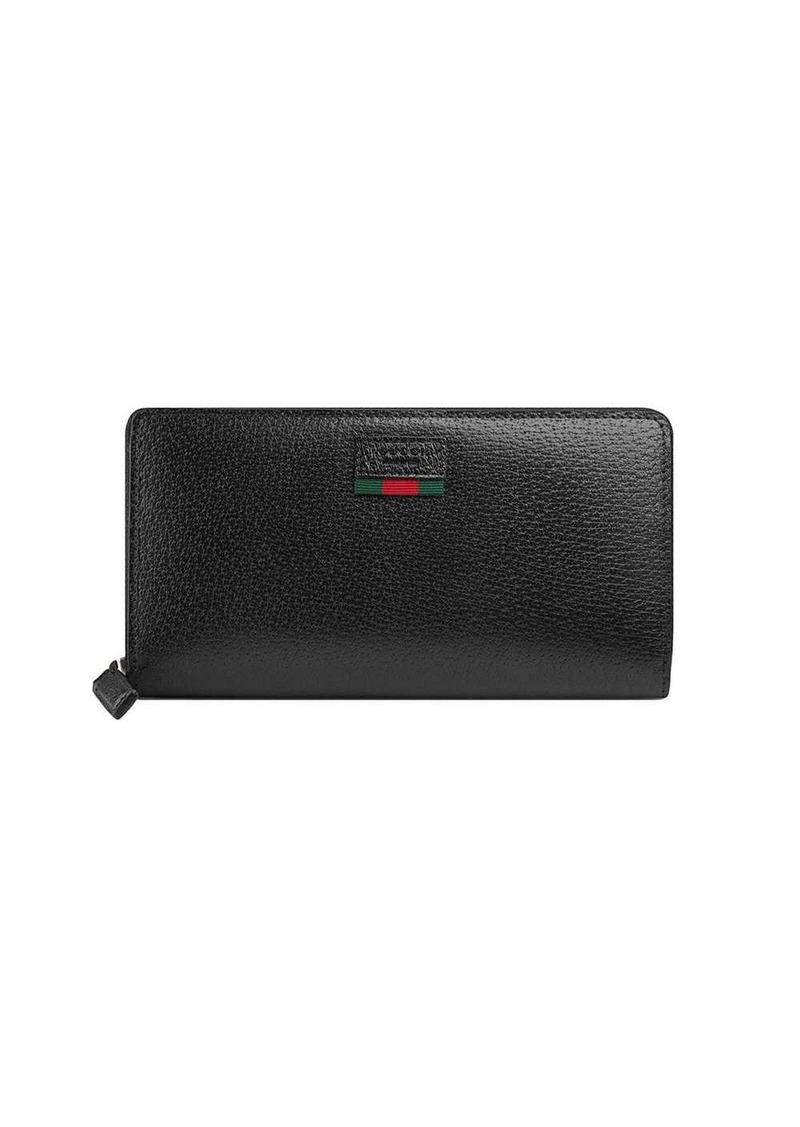 Gucci zip around wallet with Web