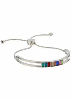 GUESS 1/2 Bangle w/ Stones and Slider Close Back Bracelet