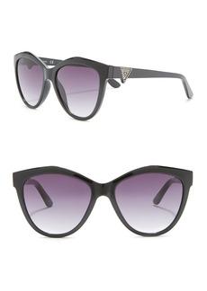 GUESS 55mm Cat Eye Sunglasses