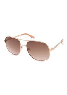 GUESS 59mm Aviator Sunglasses