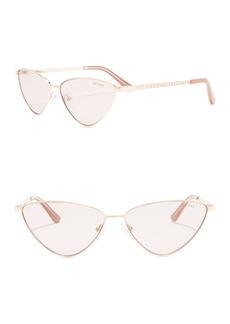 GUESS 60mm Skinny Cat Eye Sunglasses