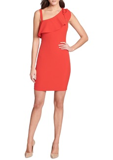 GUESS Asymmetric Mini Scuba-Crepe Dress