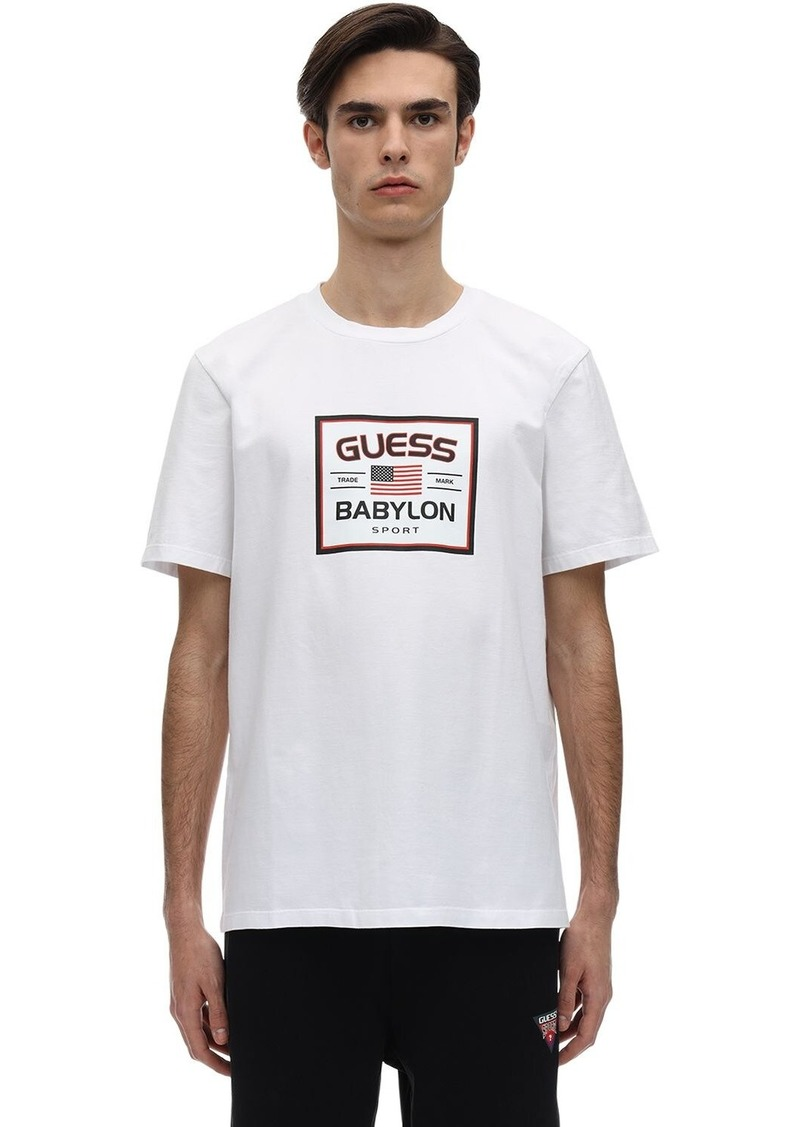 GUESS Babylon Logo Cotton Blend T-shirt