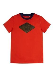 GUESS Big Boys Distressed Vintage Logo Organic Cotton Jersey Short Sleeve T-shirt
