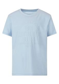 GUESS Big Boys Organic Cotton Jersey Short Sleeve Tonal Logo T-shirt