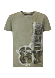GUESS Big Boys Short Sleeve Garment Dyed Logo T-shirt