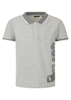 GUESS Big Boys Short Sleeve Melange Pique Logo Polo T-shirt