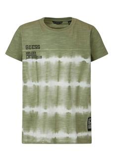 GUESS Big Boys Short Sleeve Slub Jersey Tie Dye T-shirt