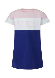 GUESS Big Girls Organic Stretch Jersey Color Block Short Sleeve T-shirt Dress
