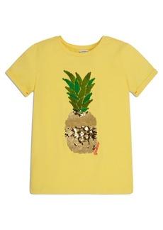 GUESS Big Girls Organic Stretch Jersey Flip Sequin Short Sleeve T-shirt