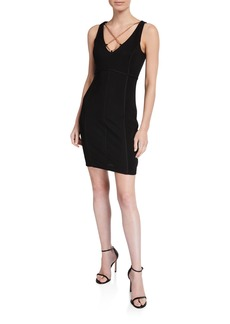 GUESS Chain Neck Body-Con Dress
