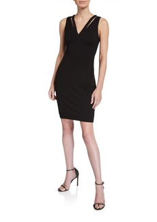 GUESS Crepe Cutout Sleeveless Dress