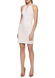 GUESS Crisscross-Neck Bodycon Cocktail Dress