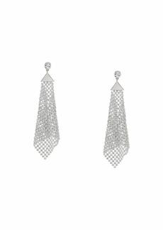 GUESS Crystal Mesh Drop Earrings