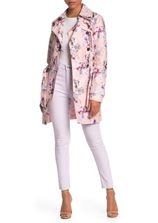 GUESS Floral Trench Coat