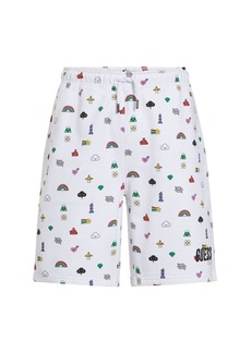 GUESS Fwy Capsule Multi Logo Cotton Shorts