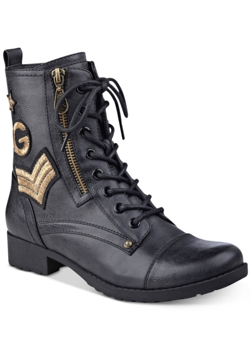 ccc32754749 GUESS G by Guess Bronson Lace-Up Combat Boots Women s Shoes