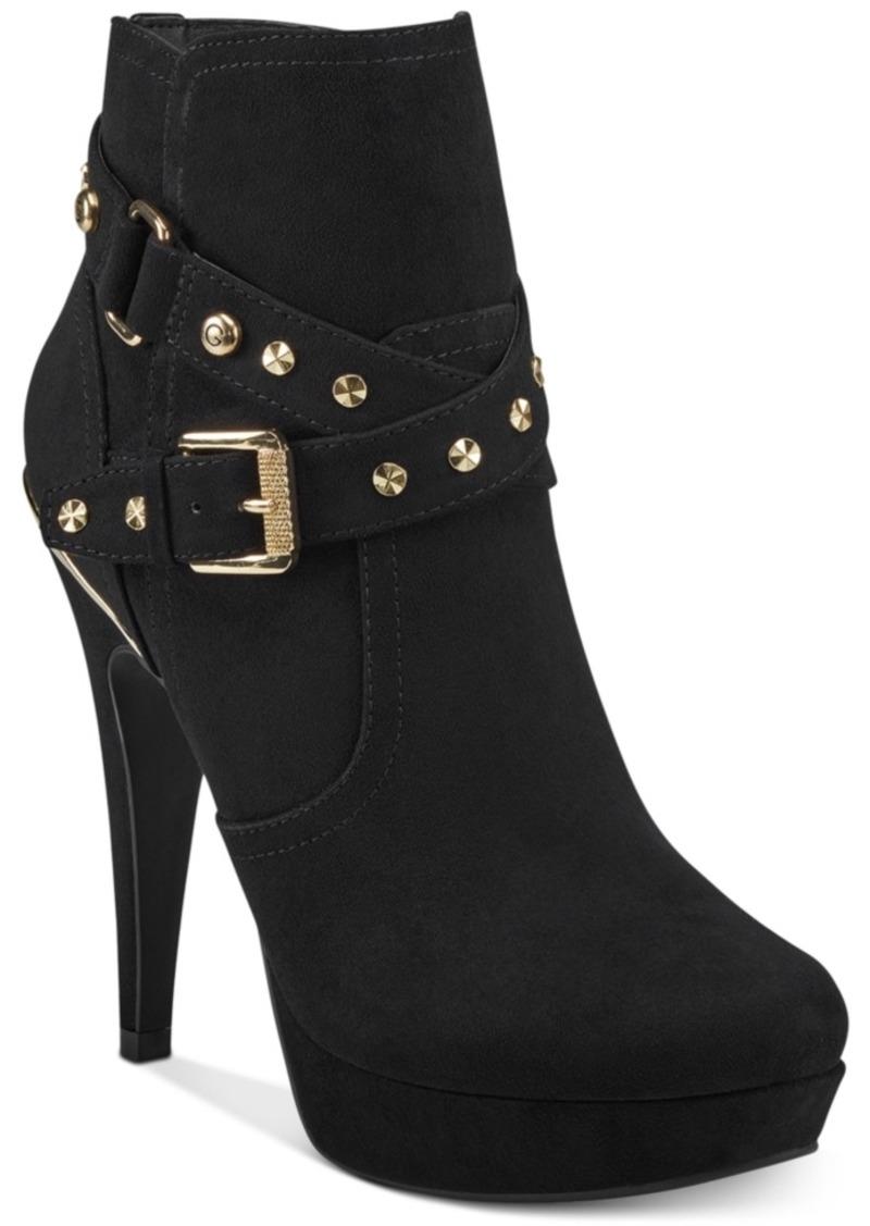 GUESS Gbg Los Angeles Deeka Platform Dress Booties Women's Shoes