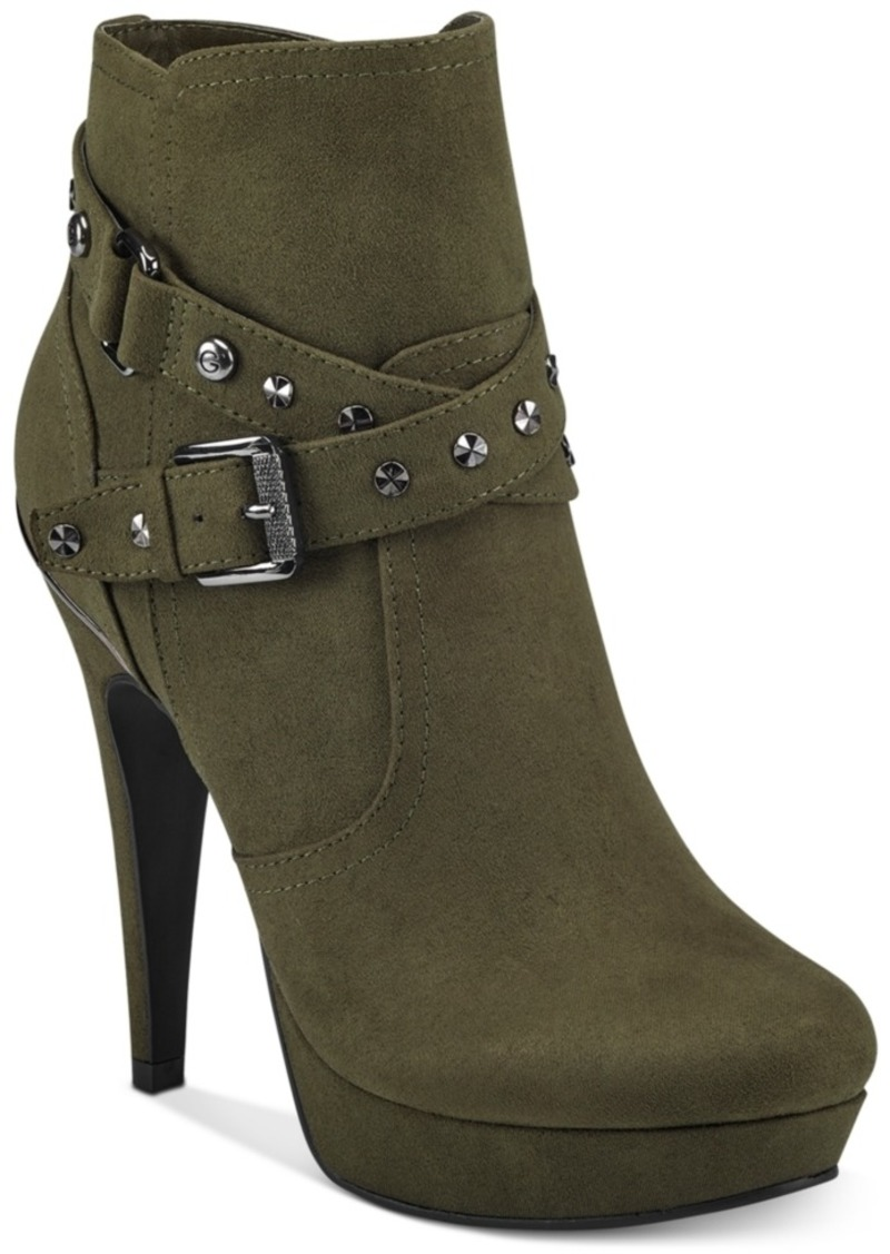G by Guess Deeka Platform Dress Booties Women's Shoes