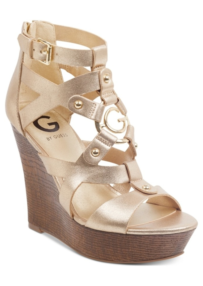 83da74700 GUESS G by Guess Dodge Platform Wedge Sandals Women's Shoes | Shoes