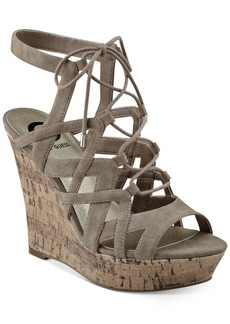 G by Guess Dritta Cork Wedge Sandals Women's Shoes