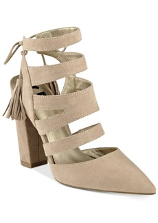 G by Guess Galway Open-Back Block-Heel Sandals Women's Shoes