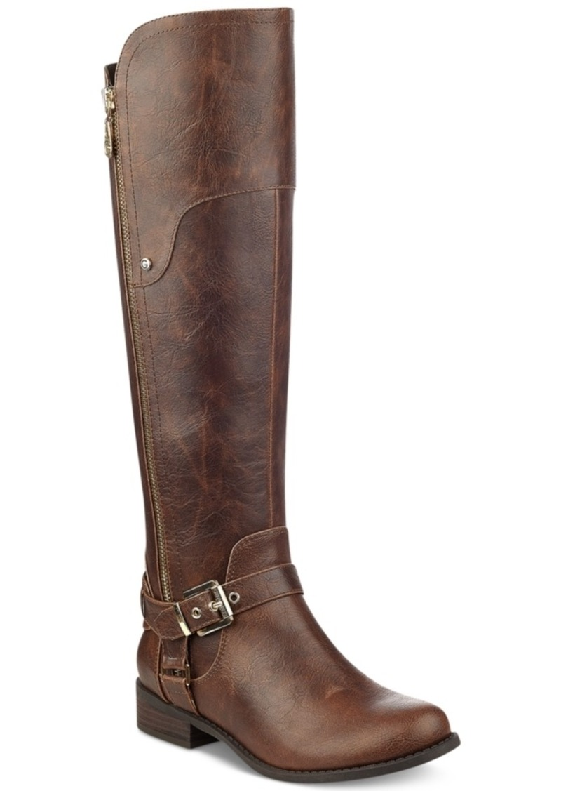 Guess G By Guess Harson Wide Calf Tall Riding Boots Womens Shoes