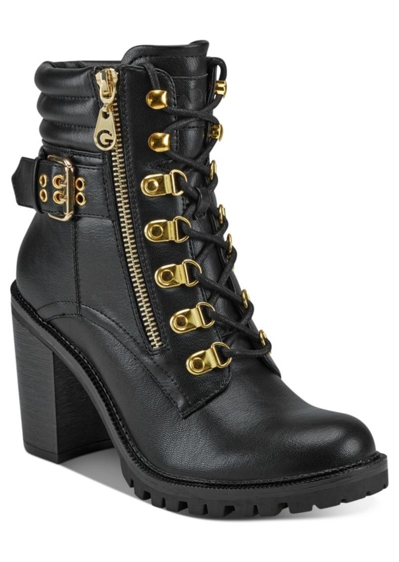 GUESS Gbg Los Angeles Jaylee Combat Booties Women's Shoes